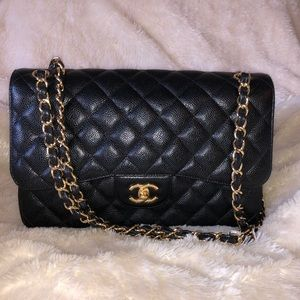 Women s Chanel Flap Bag Jumbo Price on Poshmark d16d40817